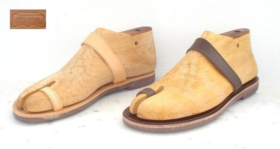 ANANIAS handmade Grecian leather sandals for men