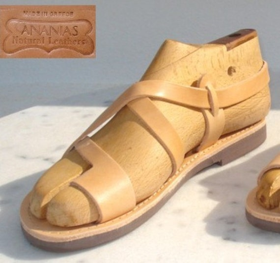 ANANIAS Greek Grecian Roman handmade leather Sandals from Greece