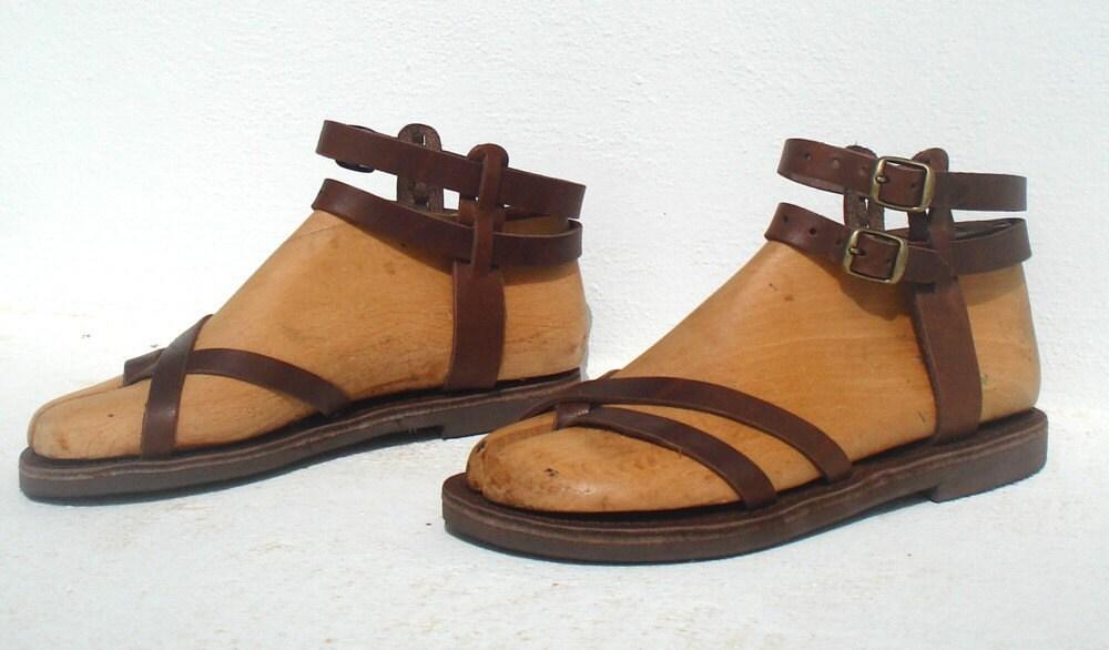 ananias roman greek gladiator leather sandals. Black Bedroom Furniture Sets. Home Design Ideas