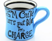 Large Bright Blue Mug Gift for Co Worker