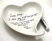 DIY Valentines Day Gift Heart Dish Can Also Be Personalized