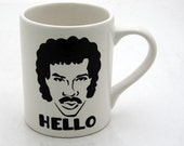 80s Nostalgia Mug Lionel Richie Hello
