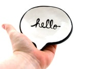 Hello trinket dish teabag holder ring holder