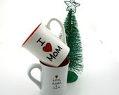 I Love Mom Personalized Mug for Mother