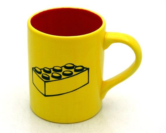 Mug with  Brick Bright Yellow and Red
