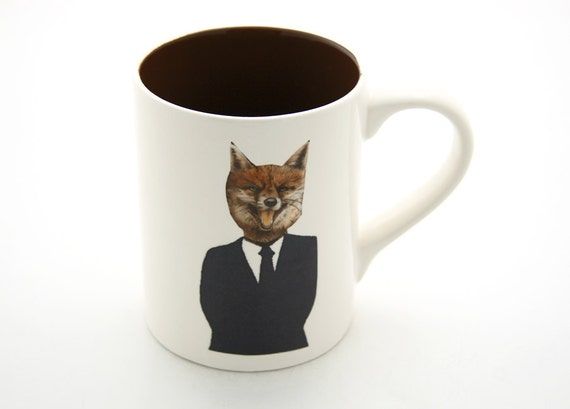 Fox Mug Surreal Art Great gift for Office or Work