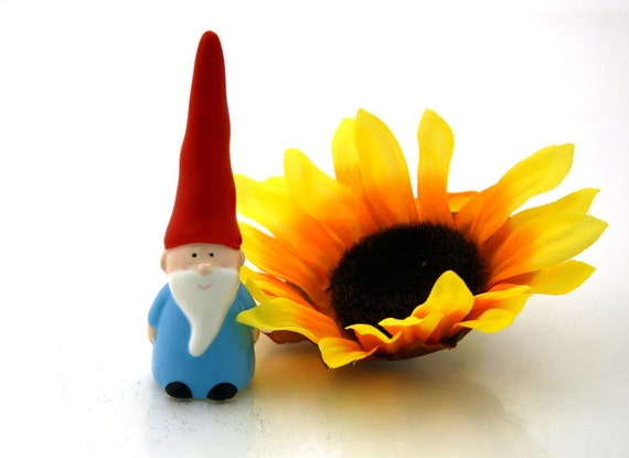 Miniature Ceramic gnome great for terrarium