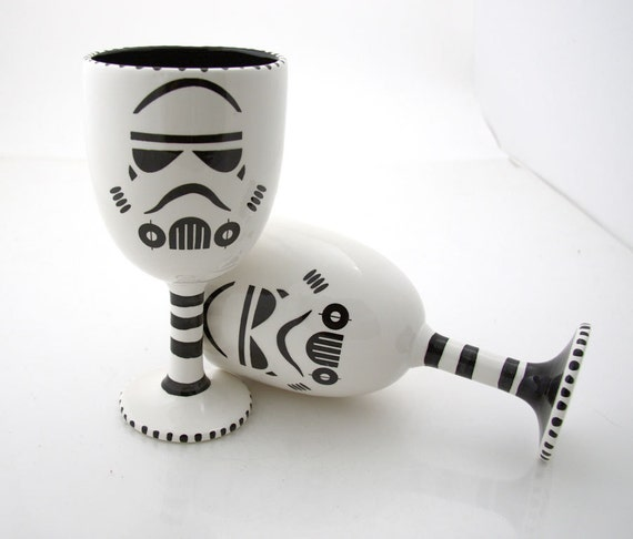 Star Wars (R) Inspired Goblets great for Star Wars (R) storm trooper (R) inspired wedding