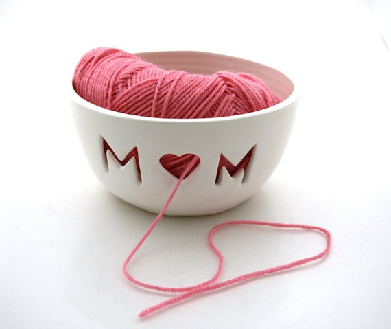 MOM Yarn Bowl Great gift for Mothers Day