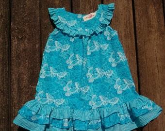 Girls Summer Dress in Teal--Size 3-4