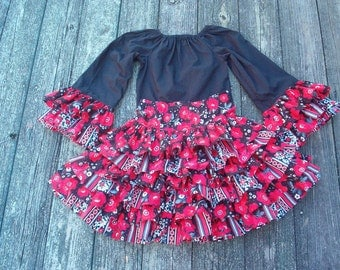 Girls Ruffled Skirt and Matching Top  Size 8