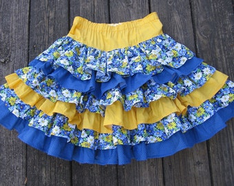Layers of Ruffles Skirt and Top for Girls Size 8