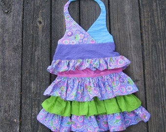 Ruffled Skirt and Halter Top for Girls Size 2 to3