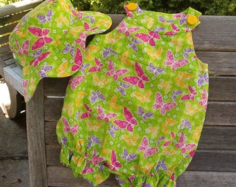 Butterfly Covered Romper SIZE 9 to 12 month