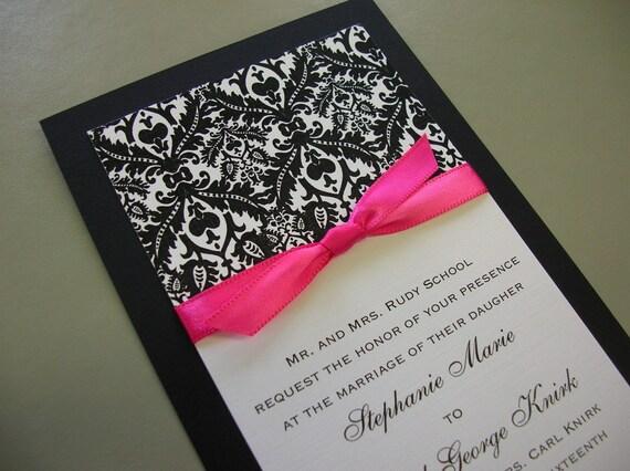 The best wedding invitation blog Wedding invitations pink and white – Black White and Pink Wedding Invitations