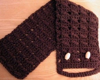 Chocolate Belted Neck Scarf