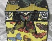 Elegant Yellow, Multi Butterfly JEWELRY KEEPSAKE  Treasure BOX