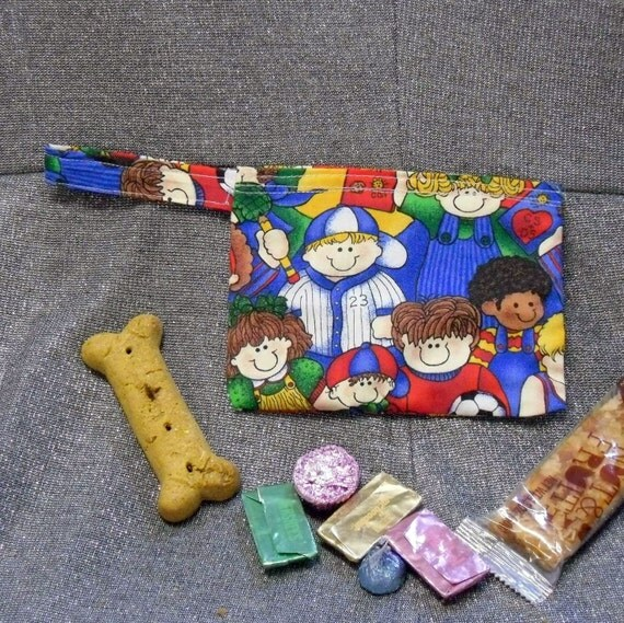 Reusable snack bag children of the world fabric fused for Children of the world fabric