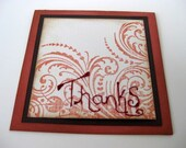 Hand-Stitched Thank You Card