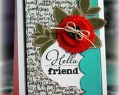 Hello Friend stamped CARD KIT