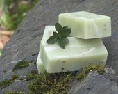 Lavender and Spearmint Soap, with Oatmeal, invigorating Bath Soap enriched with Shea Butter, completely natural good for your skin soap