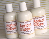 Organic APRICOT DEW, a super rich, paraben free Hand and Body Lotion loaded with Shea Butter, natural lotion, dry sensitive skin, fragrant