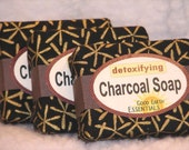 CHARCOAL DETOXIFYING SOAP, fragrance free, gentle enough for very sensitive skin
