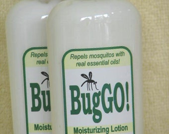 BugGO -  Insect Repellent, all natural lotion with Insect Repelling Essential Oils, mosquito repellent