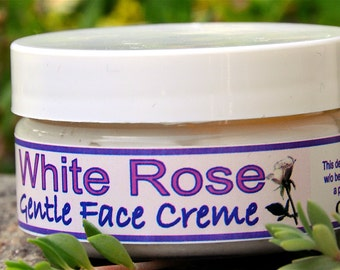 WHITE ROSE Gentle Face Cream - VEGAN - free of synthetic dyes, fragrances and preservatives - perfect for problem skin