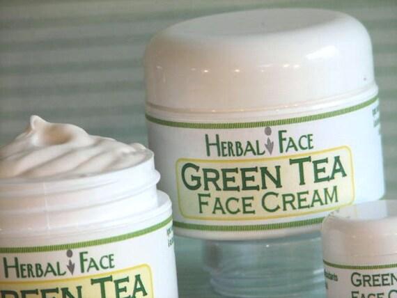 GREEN TEA Face Cream, over 70% organic, antioxidant rich, anti-aging formula, calendula, essential oils, all natural for sensitive skin