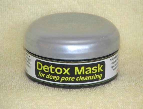 Detox MASK for deep pore cleansing,  for oily acne prone skin, all natural clays and botanicals