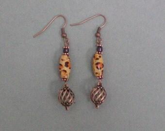 Earrings Wild Copper