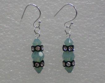 Earrings Blue Crystals