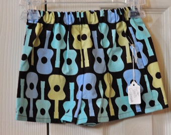 Ready to Ship--Boy's Guitar Shorts Size 6-12 months