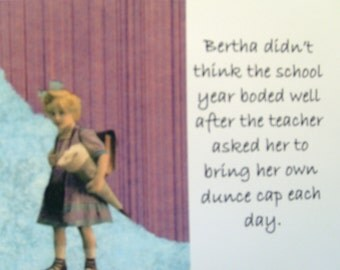 Family Album Card - Bertha