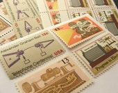 Retro Entertainment .. Vintage UNused Postage Stamps ..to post 5 letters