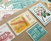 Botanical .. Estate .. UNused Vintage Postage Stamps  .. post 5 letters