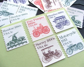 Wheels II .. UNused Vintage Postage Stamps  .. post 5 letters