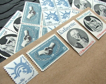 French Connection II .. UNused Vintage Postage Stamps  .. post 5 letters