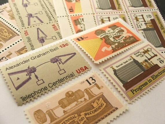 Retro Entertainment .. Vintage UNused Postage Stamps ..to post 5 letters