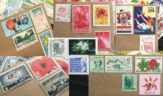Your CUSTOM Design .. 49 cent .. Vintage UNused Postage Stamps .. to post 100 1oz standard envelopes