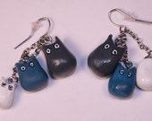 Totoro Earrings- Reserved for Pinkymcfatfat