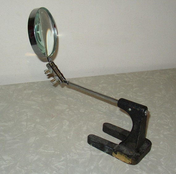 ON SALE NOW Vintage Magnifying Glass for Workshop