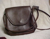 Vintage Coach purse chocolate brown leather