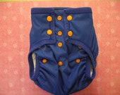 Water proof Royal blue size medium/large cloth diaper wrap/ training pants with turtle snaps By: Green Baby