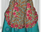 Girls Apron Knot Dress Easter Dress Summer dress Size 5 Ready to Ship CLEARANCE SALE