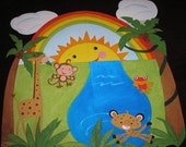 Hand painted mural Rainforest Fisher Price