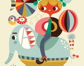 join the circus... limited edition giclee print of an original illustration (8 x 10in)