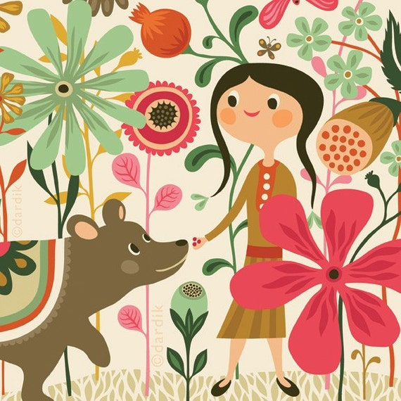 wild dream... limited edition giclee print of an original illustration (8 x 10 in)