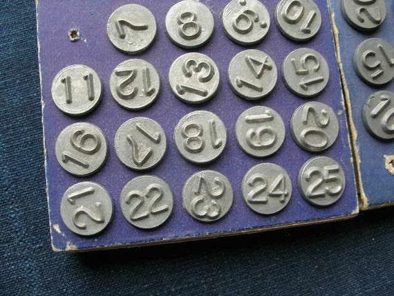 Numbers Window Markers 1948 Metal Number Tacks